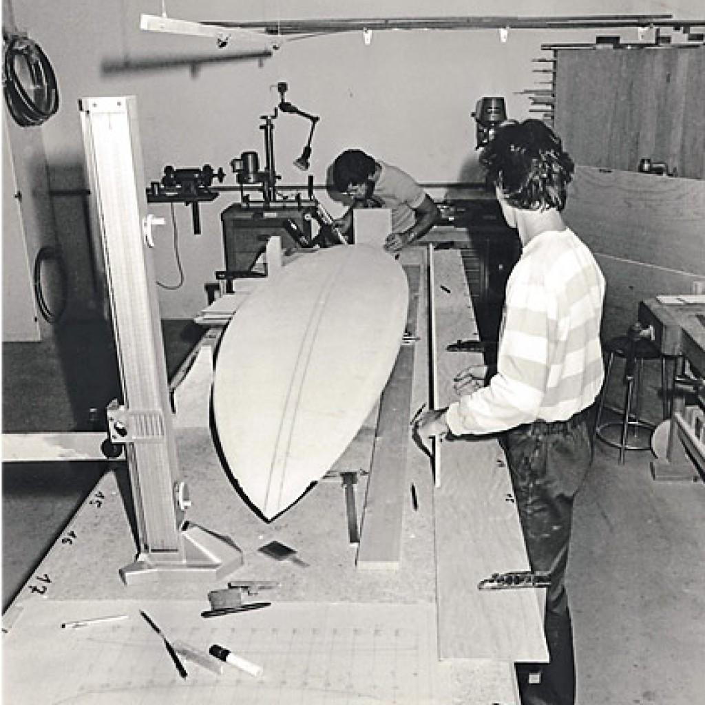 Bau von Surfboards